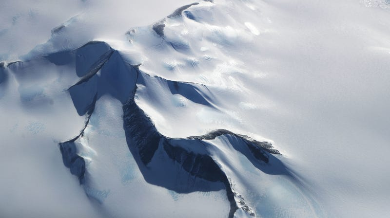 A view of the Antarctic ice sheet.