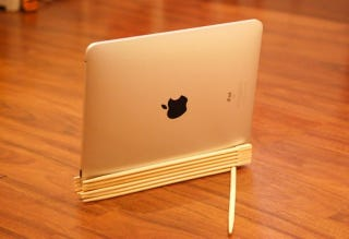 Illustration for article titled Craft an iPad Stand from Chopsticks