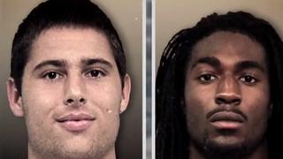 Former Vanderbilt University football players Brandon Vandenburg and Cory BateyYouTube screenshot