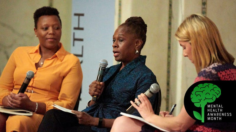 Nneka Jones-Tapia, executive director of the Cook County, Ill., Department of Corrections; New York City first lady Chirlane McCray; and Alexa James, executive director of the National Alliance on Mental Illness, talk about the criminalization of mental health.