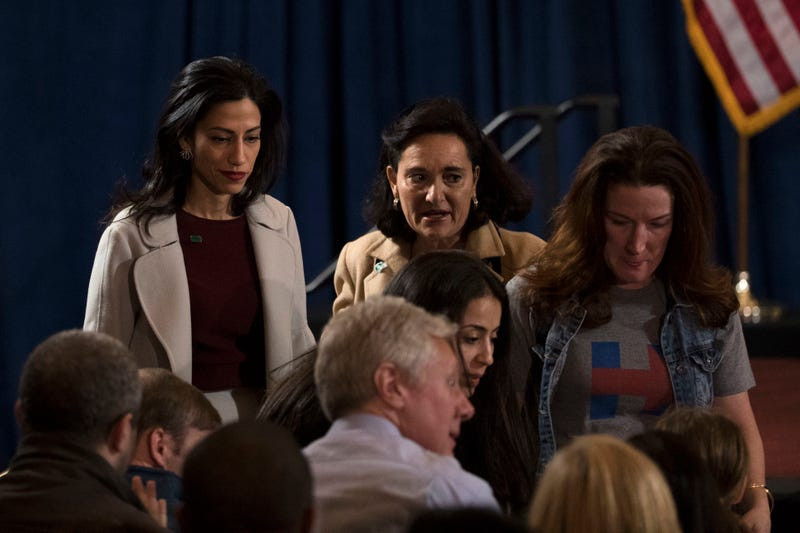Abedin before Clinton's concession speech, November 9. Photo via AP
