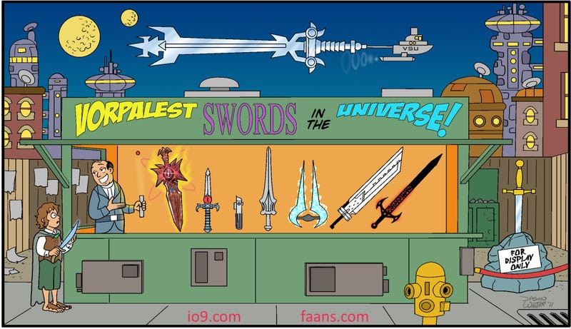Illustration for article titled Can You Recognize the 10 Greatest Swords Of All Time?