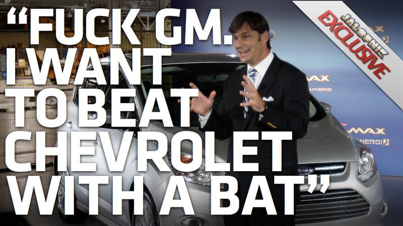 "Illustration for article titled Ford Marketing Head: ""Fuck GM"""