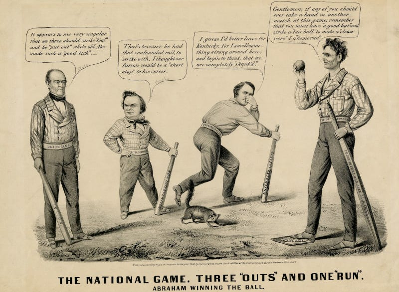 Illustration for article titled A Brief History Of Sports In Political Cartoons