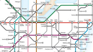 As A Subway Map.Plan Your Next Road Trip With The Ingenious Us Interstates Subway Map