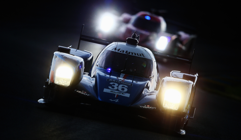 The FIA World Endurance Championship ride of drivers Nicolas Lapierre, Gustavo Menezes and Stephane Richelmi at the 24 Hours of Le Mans. Photo credit: Ker Robertson/Getty Images