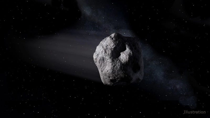 An illustration of an asteroid.