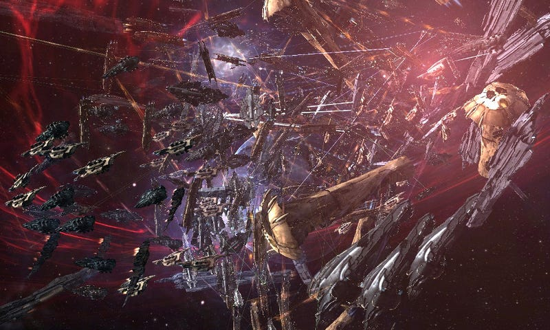 Illustration for article titled How the Battle of Asakai Became One of the Largest Space Battles in Video Game History