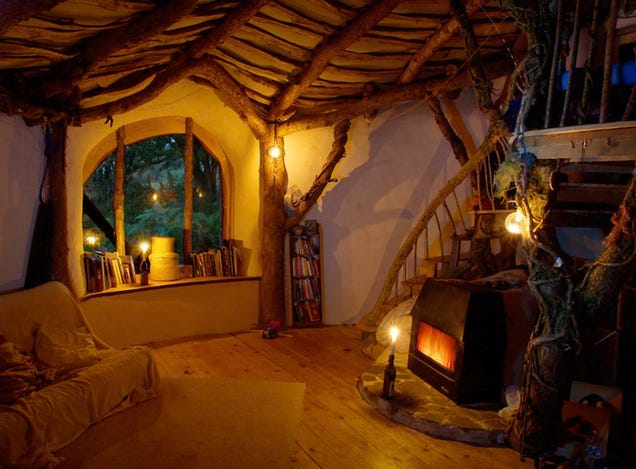Architect builds residence inspired via - Hobbit Houses Inspired'The Hobbit'; Stone cottage is ...