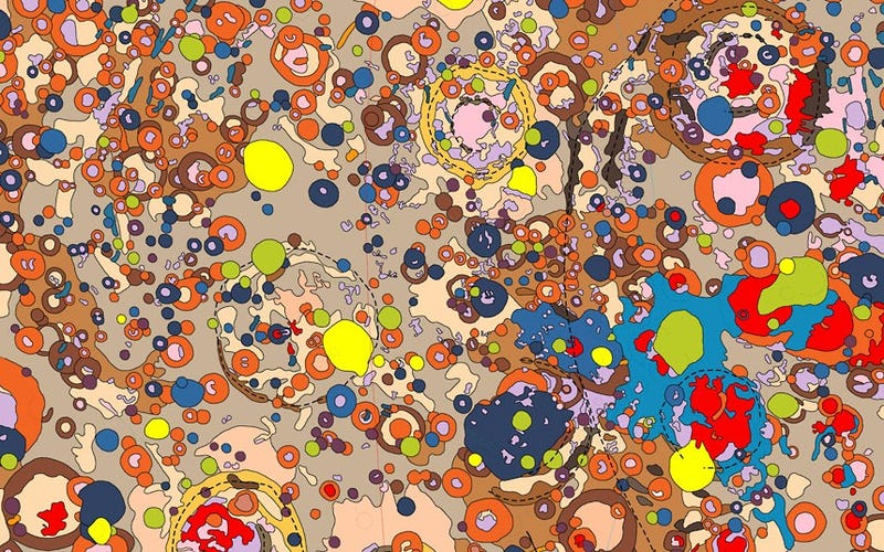 Illustration for article titled These colorful planetary maps look like pop art