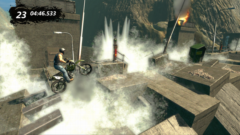 Illustration for article titled Motocross Bikes Soar at Awkward Angles in Trials Evolution's Newest Screenshots