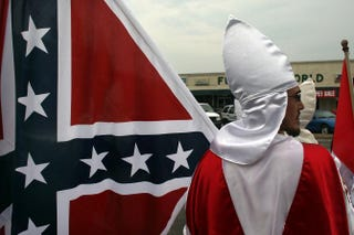 Member of the Fraternal White Knights of the Ku Klux KlanSpencer Platt/Getty Images