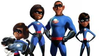 Illustration for article titled The Obama family reimagined as The Incredibles