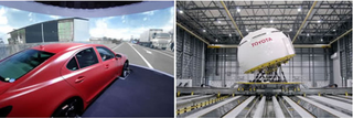Illustration for article titled Toyota's New Driving Simulator Looks Like Fairground Attraction