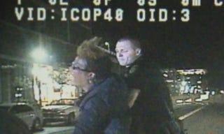 Arizona State University professor Ersula Ore is placed under arrest.Arizona State University Police Department Video Screenshot