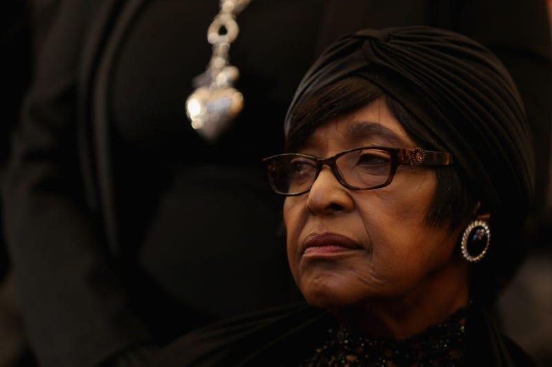 Winnie Madikizela-Mandela in Johannesburg on Dec. 8, 2013