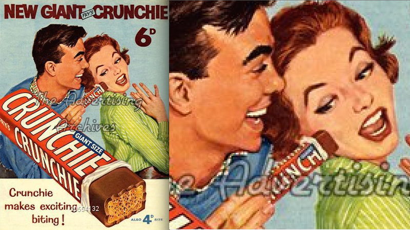 Illustration for article titled The Ridiculously Phallic Crunchie Ads of the 1950s