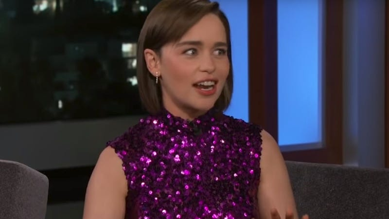 """Illustration for article titled Emilia Clarke's friends aren't watching her train """"iguanas"""" or whatever on Game Of Thrones"""