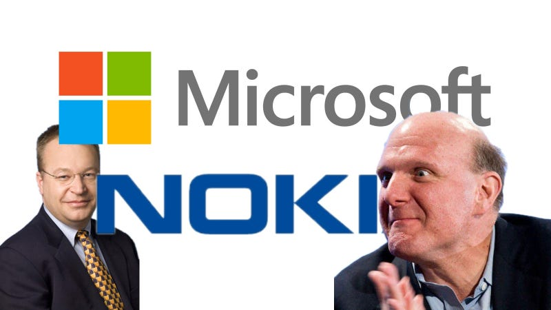Illustration for article titled Buena o mala noticia: ¿qué te parece la compra de Nokia por Microsoft?