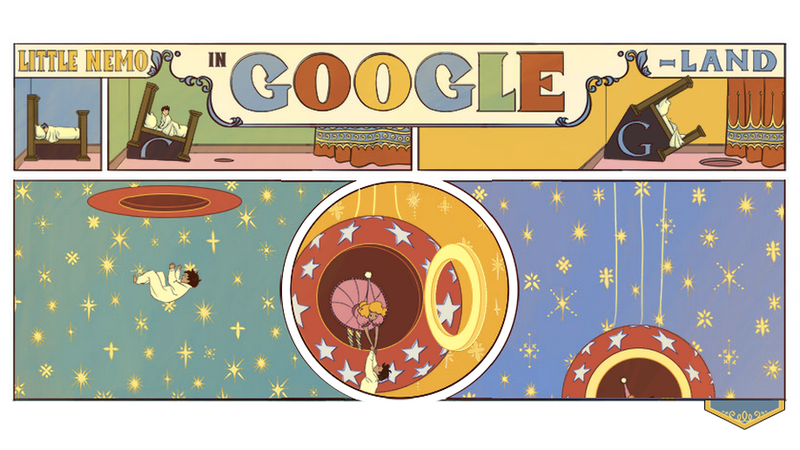 Illustration for article titled Today's Google Doodle Is a Huge Animated Tribute to Winsor McCay's Cartoons