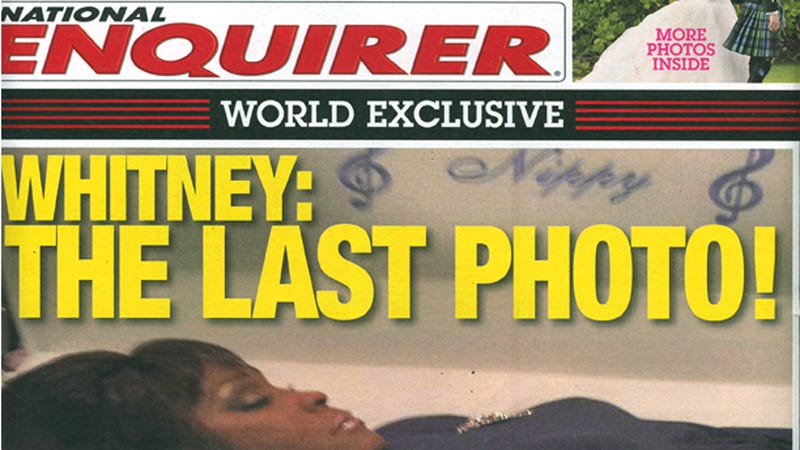 Illustration for article titled This Coffin Photo of Whitney Houston's Dead Body Is Now on Newsstands Everywhere