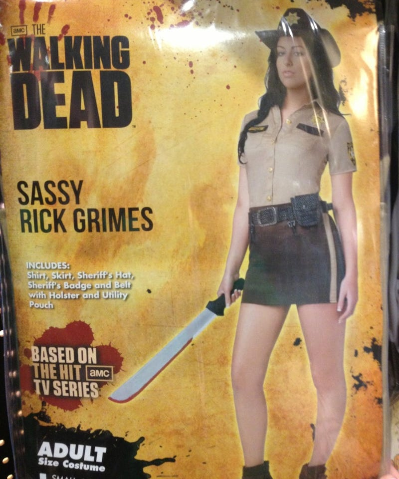 Illustration for article titled Sexy Rick Grimes from Walking Dead is an actual Halloween costume now