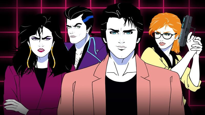 Illustration for article titled Moonbeam City has Archer vibes and Rob Lowe, but it's more clever than funny
