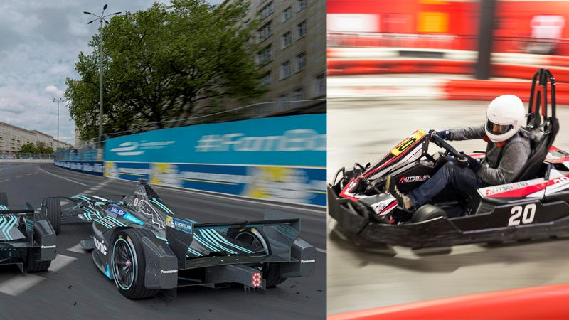 Illustration for article titled Are You Faster Than A Jaguar Formula E Racer? Come Race With Us In New York!