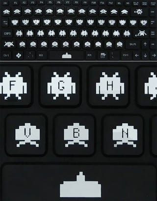 Illustration for article titled Space Invaders: The Inevitable Keyboard