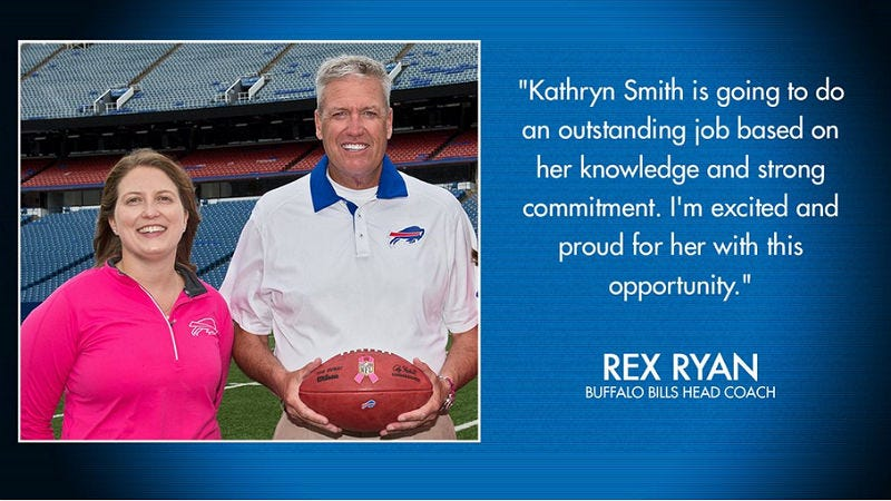 Illustration for article titled Kathryn Smith Joins theBuffalo Bills, Becomes the NFL's First Female Coach