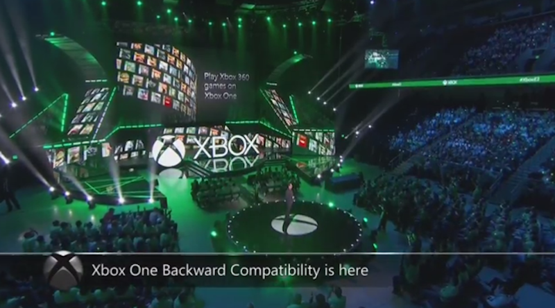 Illustration for article titled Xbox One Gets Backwards Compatibility; Microsoft Takes Shots At Sony