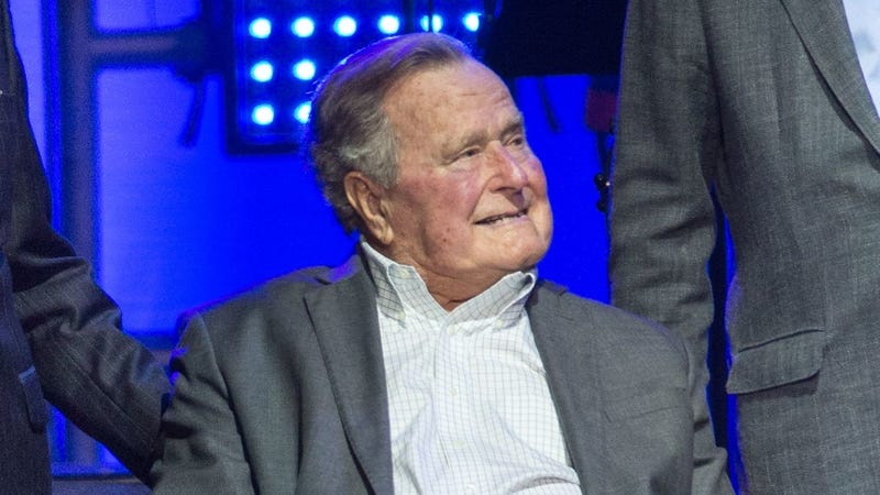 Bush at the hurricane relief concert attended by former presidents on October 21. (Photo: Jim Chapin/Getty Images)