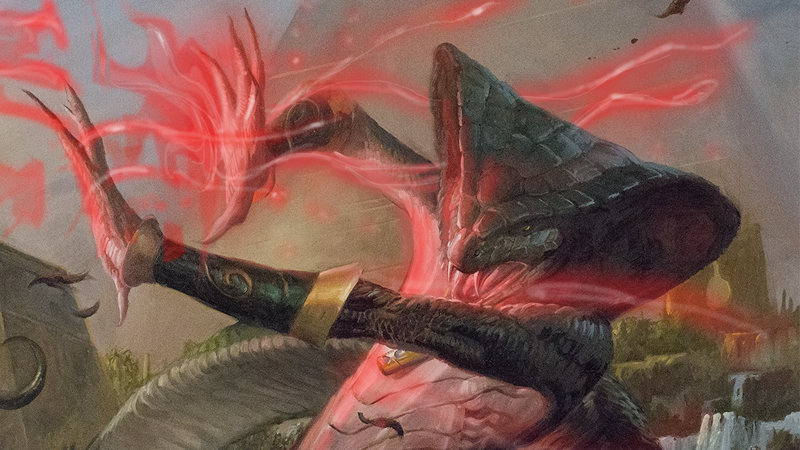 """Image: Wizards of the Coast. """"Injury"""" by Lucas Graciano."""