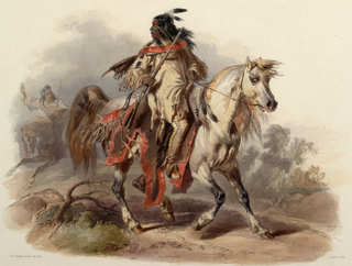 Painting by Karl Bodmer of a Blackfoot warrior, circa 1840-1843Wikimedia Commons