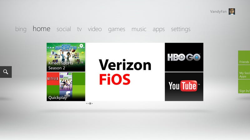 Illustration for article titled Xbox 360 Becomes a FiOS Cable Box Next Month, Starting With 26 Channels
