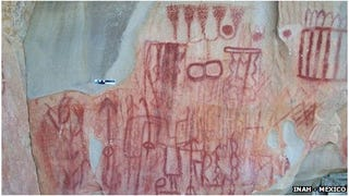 Illustration for article titled Almost 5000 pre-Hispanic cave paintings discovered in Mexico