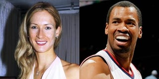 Carolyn Moos and Jason Collins (Getty Images)