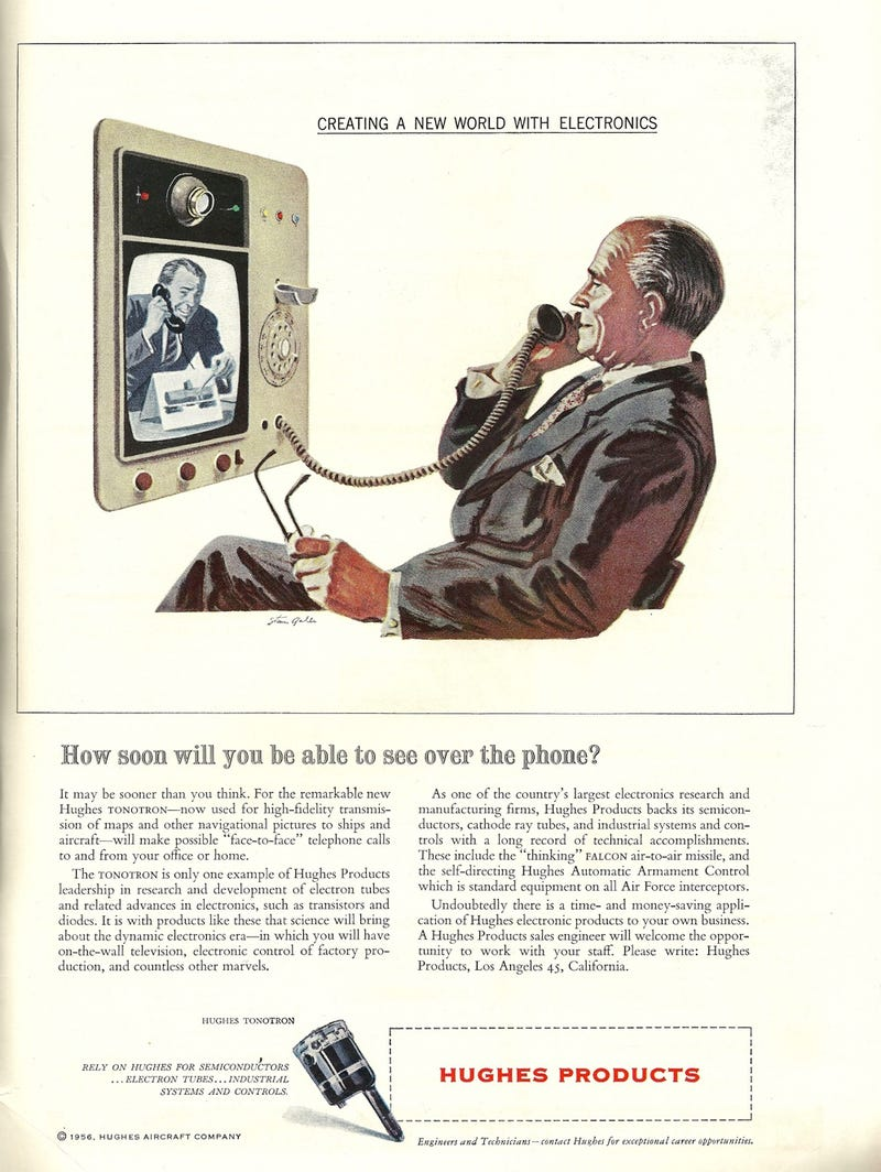 Illustration for article titled Face to Face Phone Calls (1957)