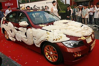 2 8 million ivory carved dragon bmw speaks for itself