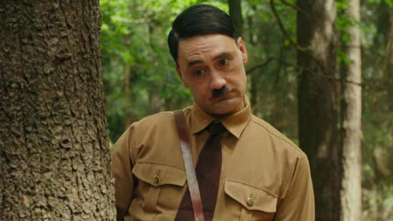 Taika Waititi stars as Imaginary Hitler in Jojo Rabbit.