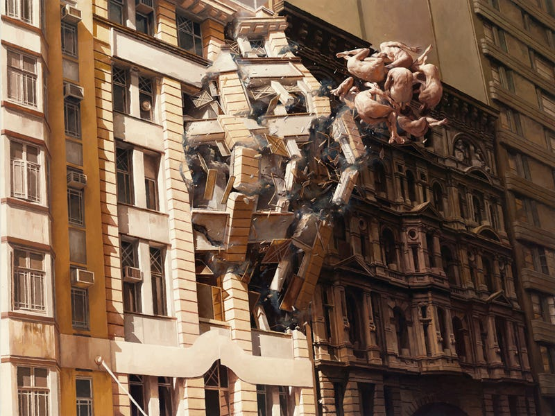 Illustration for article titled The beautiful and often disturbing paintings of Jeremy Geddes