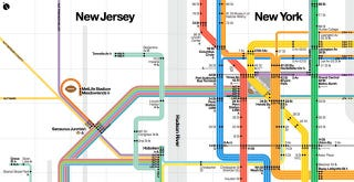 Illustration for article titled A New York City Transit Map Custom-Made for the Super Bowl