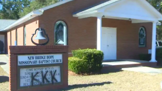 Vandalism at New Bridge Hope Missionary Baptist Church in Wakulla County, Fla., is being investigated as a hate crime.WCTV Screenshot via International Business Times