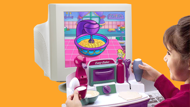 I Miss This Weird Easy-Bake Oven CD-ROM Playset