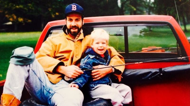 Clay and Andrew Collins, circa 1990.