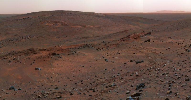Imagen de la superficie de Marte tomada por la sonda Spirit. Foto: Wikipedia