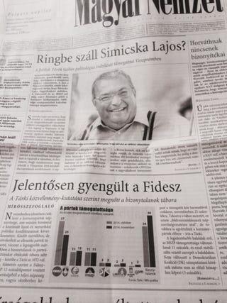 Illustration for article titled Történelmi címlappal jelent meg a Magyar Nemzet