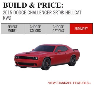 Illustration for article titled The Challenger Hellcat Configurator is LIVE