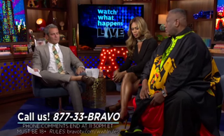Andy Cohen, Laverne Cox and Andre Leon TalleyYouTube screenshot