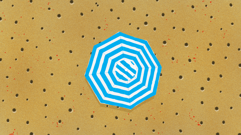 Illustration for article titled How to Plant a Beach Umbrella to Keep It From Flying Away